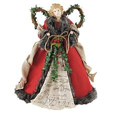 Santa's Workshop 16' Red Homespun Angel Figurine