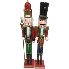 Santa's Workshop 36' Royal King And Drummer Figurines