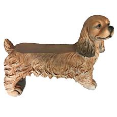 Santa's Workshop Cocker Spaniel Bench