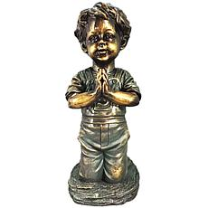 Santa's Workshop Praying Boy Statue