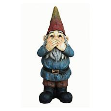 Santa's Workshop Speak No Evil Gnome Statue