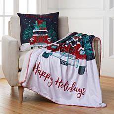 Sara B. Holiday Truck Pillow & Throw Set