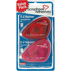 Scrapbook Adhesives E-Z Dispensers 2/Pkg - Squares and Runner