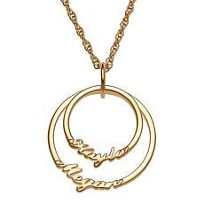 Script 2-Name Circles Necklace