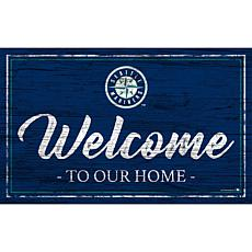Seattle Mariners Team Color Welcome Sign - 11x19""
