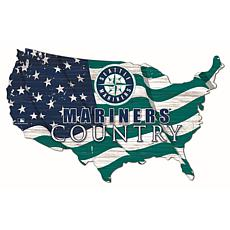 Seattle Mariners USA Shape Flag Cutout