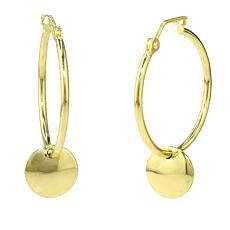 Séchic Disc d'Or 14K Yellow Gold Hoop Earrings