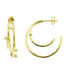 Séchic Globes 14K Yellow Gold Dual Hoop Earrings