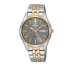 Seiko Men's 2-tone Stainless Steel Gray Dial Solar-Powered Watch