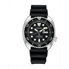Seiko Men's Prospex Stainless Steel Automatic Silicone Strap Watch