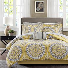 Serenity Twin 7pc Complete Bed and Sheet Set - Yellow