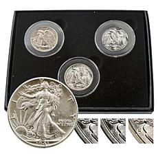 Set of 3 PDS Random-Year Walking Liberty Half Dollars