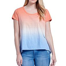 Seven7 Dip Dye Scoop Neck Relaxed Tee