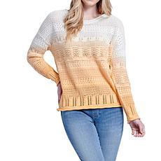 Seven7 Dip Dye Sweater - Apricot Cream