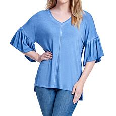 Seven7 Hi-Low Bell Sleeve Top