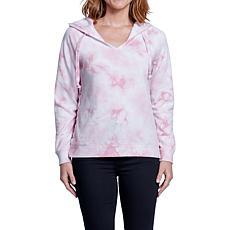 Seven7 Lace-Up Tie Dye Sweatshirt - Foxglove