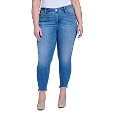Seven7 Mid-Rise Splendor Skinny Jean with Side Studs - Liberation