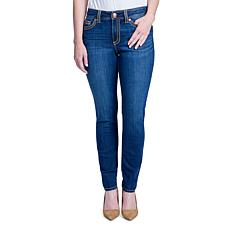 Seven7 Thick Stitch Mid Rise Rocker Skinny Jean - Challenger