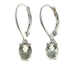Sevilla Silver™ 1.21ctw Oval Green Amethyst Drop Earrings