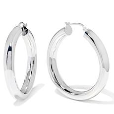 "Sevilla Silver™ 13/16"" Diameter Tubular Hoop Earrings"