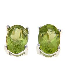 Sevilla Silver™ 1ctw Oval Peridot Stud Earrings