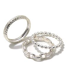 Sevilla Silver™ 3-piece Band Ring Set