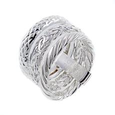 Sevilla Silver™ 3-Row Stacking Rings