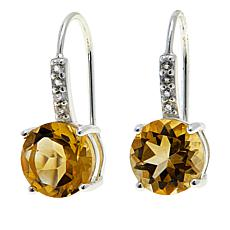 Sevilla Silver™ 3.78ctw Citrine and White Topaz Earrings