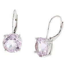 Sevilla Silver™ 6.6ctw Round Pink Amethyst Drop Earrings