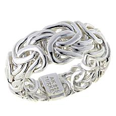 Sevilla Silver™ Byzantine Graduated Band Ring