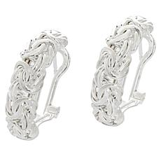 Sevilla Silver™ Byzantine Hoop Earrings