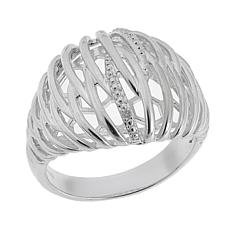 "Sevilla Silver™ Diamond-Accented ""Caged"" Ring"