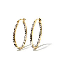 Sevilla Silver Diamond-Accented Hoop Earrings