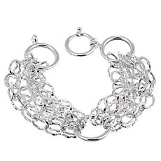 "Sevilla Silver™ Diamond-Cut and Polished Link 5-Row 8"" Bracelet"