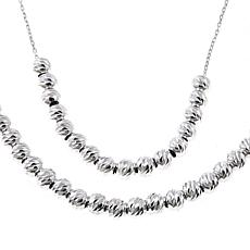 Sevilla Silver™ Diamond-Cut Bead Layered Necklace