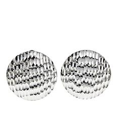 Sevilla Silver™ Diamond-Cut Button Stud Earrings