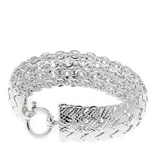 Sevilla Silver™ Diamond-Cut Chevron Bracelet