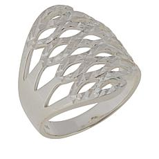Sevilla Silver™ Diamond-Cut Openwork Ring