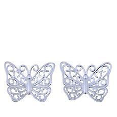 Sevilla Silver™ Filigree Butterfly Stud Earrings