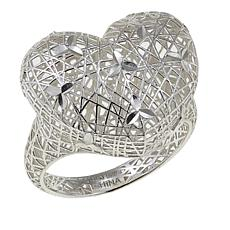 Sevilla Silver™ Filigree Openwork Heart Ring