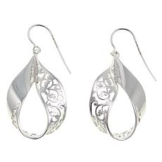 Sevilla Silver™ Filigree Twisted Drop Earrings