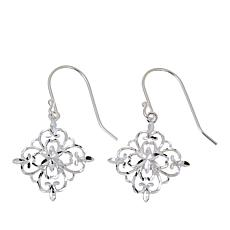 Sevilla Silver™ Floral Filigree Drop Earrings