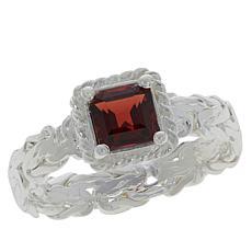 Sevilla Silver™ Gemstone Byzantine Ring