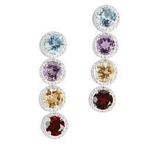 Sevilla Silver™ Gemstone Rainbow Drop Earrings