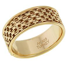 Sevilla Silver™ Gold-Plated Mesh Spinner Ring