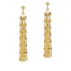 Sevilla Silver™ Gold-Plated Mirror Chain Dangle Earrings