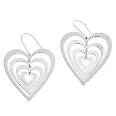 Sevilla Silver™ Graduated Heart Drop Earrings