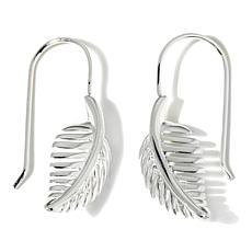 "Sevilla Silver™ ""Leaf"" Wire-Back Earrings"