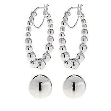 Sevilla Silver™ Set of 2 Bead Earrings
