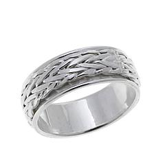 Sevilla Silver™ Spinner Wheat Chain Band Ring